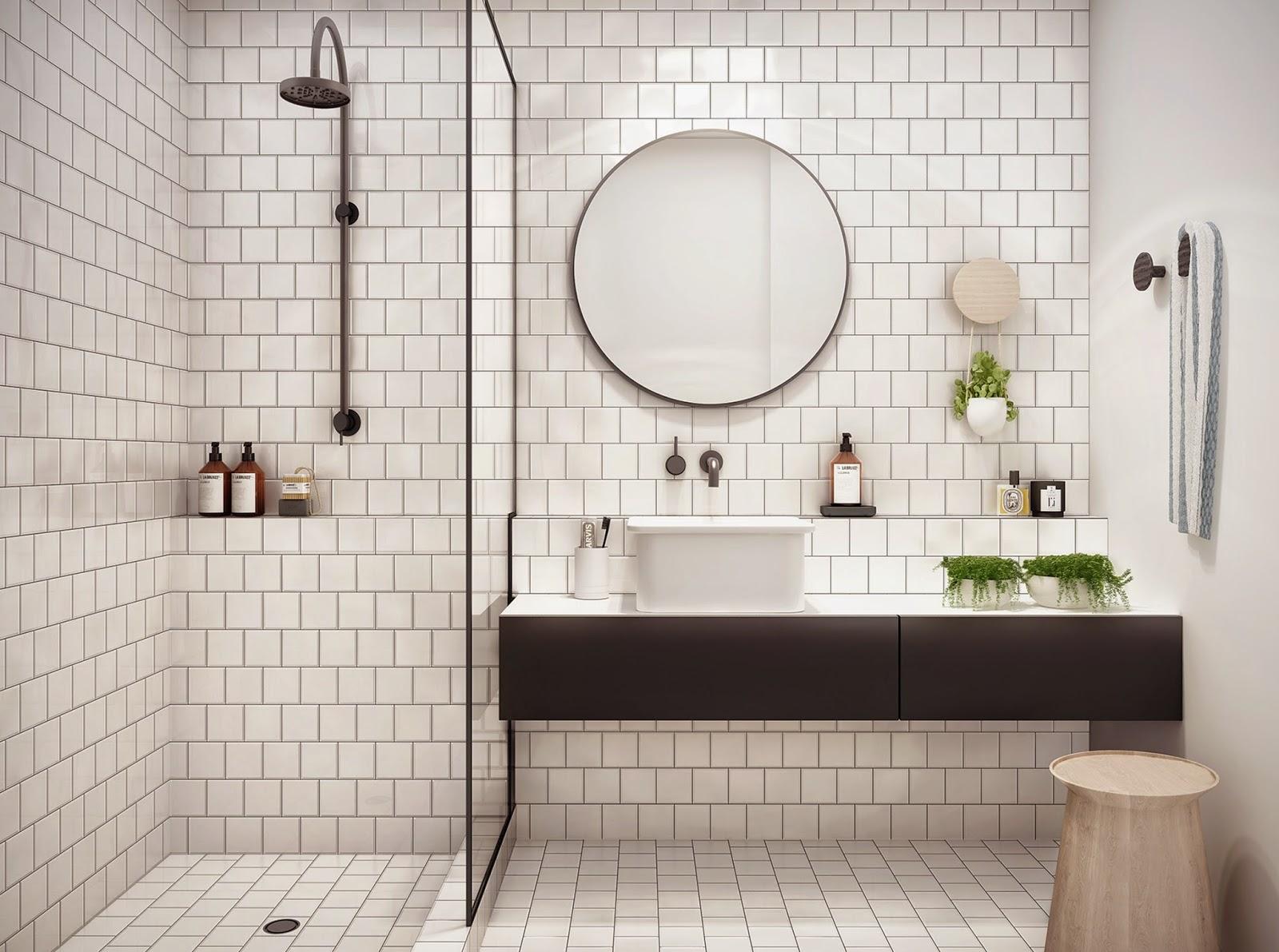 Petite salle de bain avec baignoire dangle - Optimiser une petite salle de bain ...