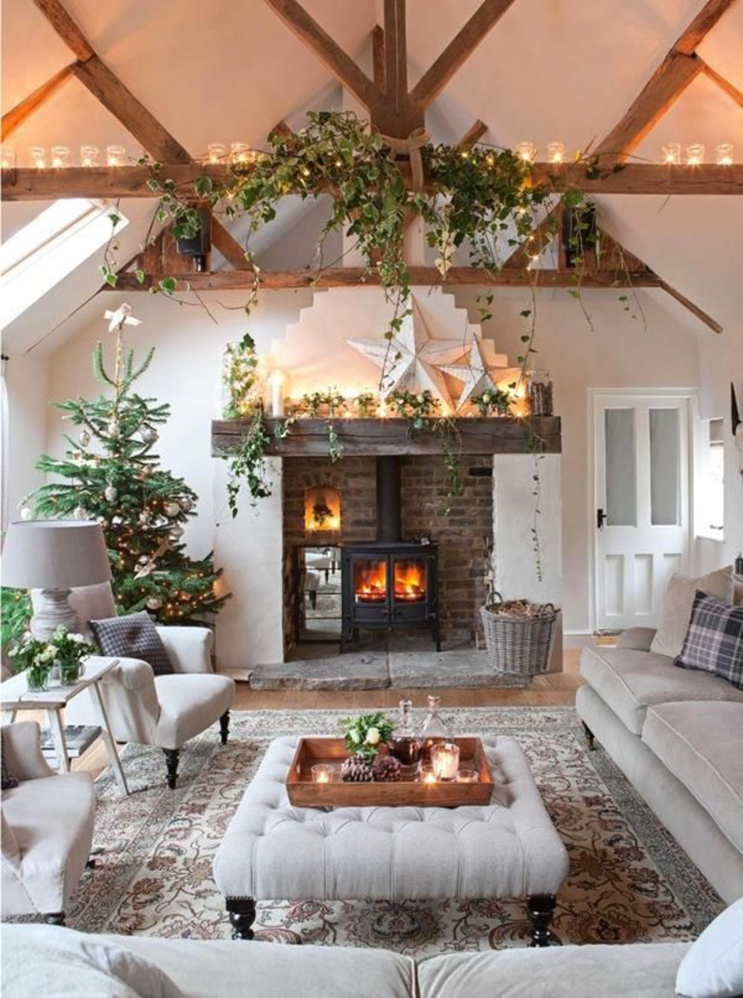 Nos conseils pour la d coration no l chambre terrasse for Beautiful homes decorated for christmas