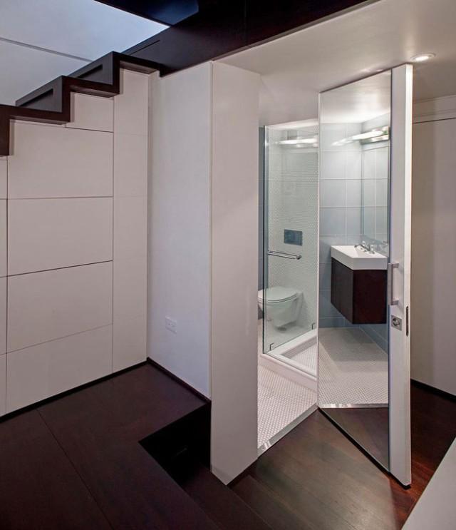 Supérieur Salle De Bain Sous Escalier #9: Une Salle De Bains Ou Des Toillettes Sous Lu0027escalier