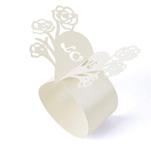 Rond de serviette mariage coeur id es et d 39 inspiration - Decoration serviette de table mariage ...