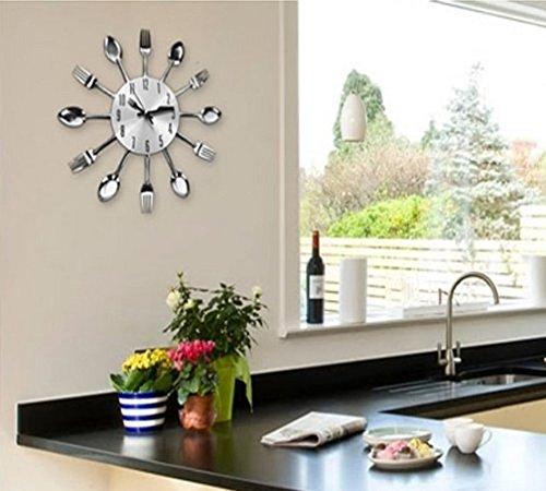 Pendule de cuisine design horloge murale en fer avec - Pendule design cuisine ...