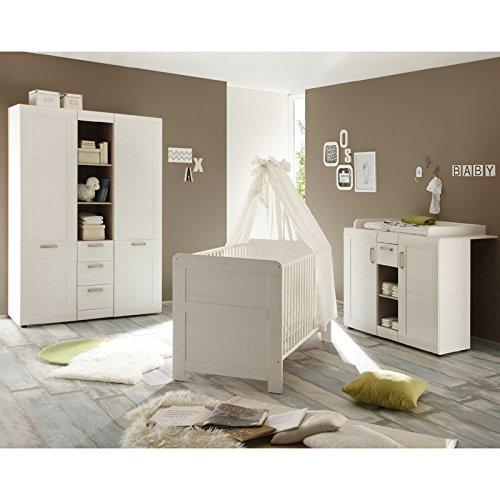 Tagres chambre bb lit 140 eden coloris ch ne gris vente for Meuble chambre bb