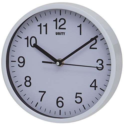Unity radcliffe horloge murale silencieuse blanc with for Horloge murale design silencieuse