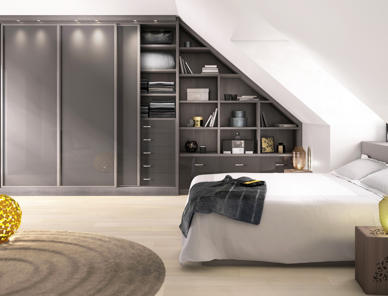 30 id es d co pour am nager et d corer vos combles. Black Bedroom Furniture Sets. Home Design Ideas