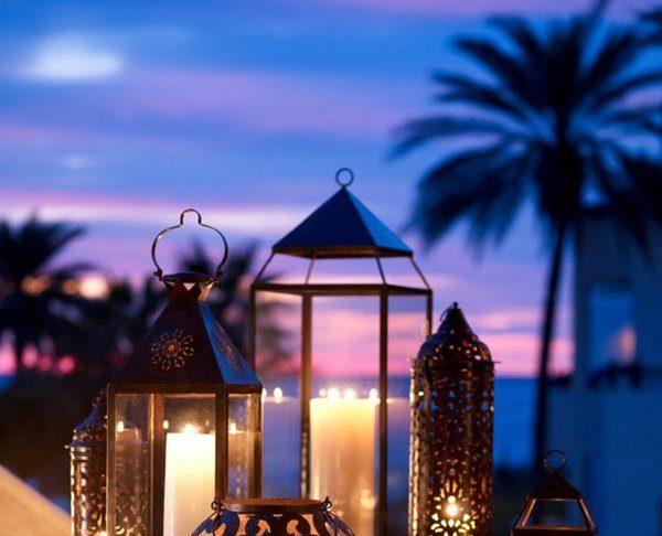 Des lanternes pour vos bougies sur la terrasse