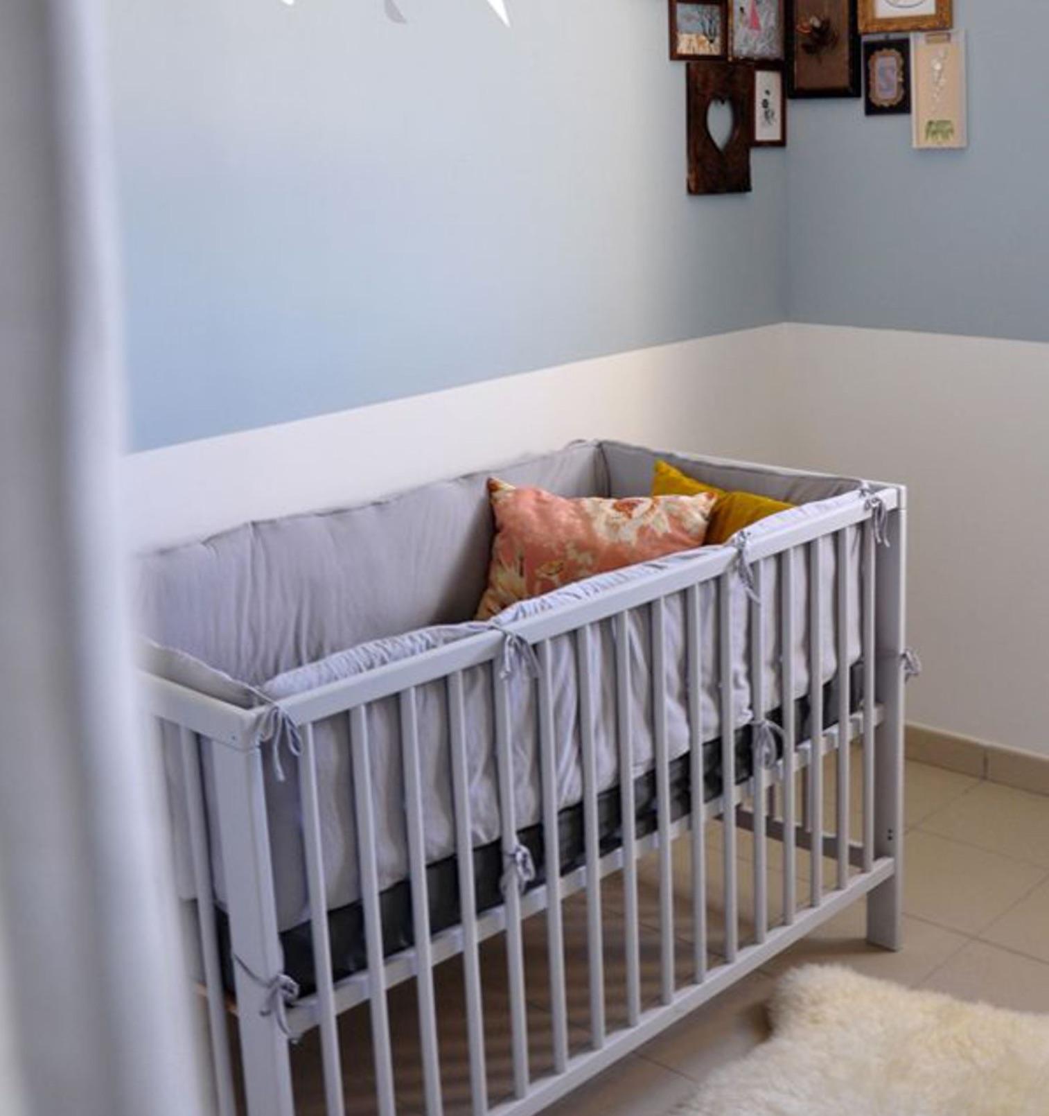 couleur chambre bebe gris bleu