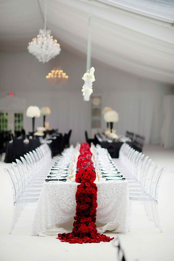 Deco de mariage noir et blanc for Decoration table noir et blanc