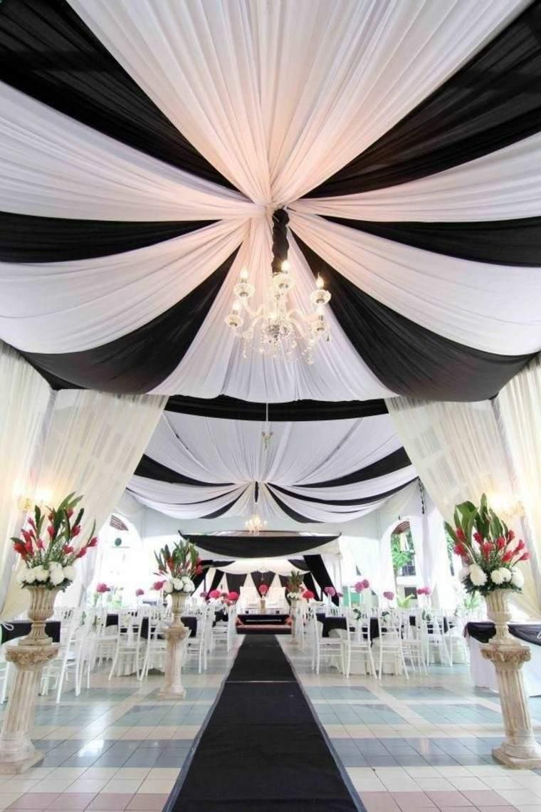 Decoration Salle Mariage Noir Et Blanc : La déco de mariage en noir et blanc décryptée pour vous